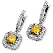 14kw Emma Grace Princess Cultured Diamond Earrings (Semi-mount)