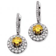 14kw Emma Grace Round Cultured Diamond Earrings (Semi-mount)