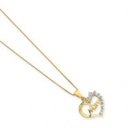 Sterling Silver & Vermeil Diamond Mom Necklace chain