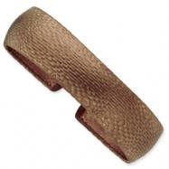 Sterling Silver & Rose Rhodium Textured Cuff Bracelet