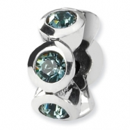 Sterling Silver Reflections December Swavorski Crystal Birthstone Bead