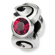 Sterling Silver Reflections July Swavorski Crystal Birthstone Bead