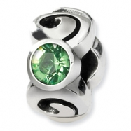 Sterling Silver Reflections August Swavorski Crystal Birthstone Bead