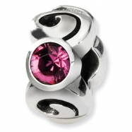 Sterling Silver Reflections October Swavorski Crystal Birthstone Bead