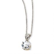Sterling Silver & Gold-plated 8mm X & O CZ 18in Necklace chain