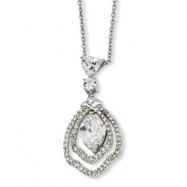 Sterling Silver Marquise CZ 18in Necklace chain