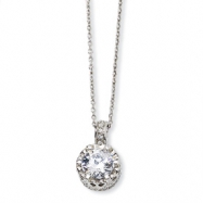 Sterling Silver 100-facet CZ 18in Necklace chain