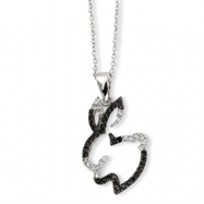 Sterling Silver CZ Bunny 18in Necklace chain