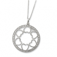Sterling Silver CZ Fulness Of Blessings 18in Necklace