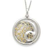 Sterling Silver & Gold-plated Harmony 18in Necklace