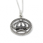 Sterling Silver Antiqued Keep Shining, Keep Reaching 18in Necklace""""