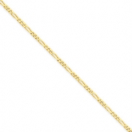 14k 1.75mm Concave Figaro Link Chain