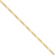 14k 2.4mm Concave Figaro Link Chain