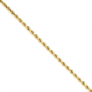 14k 2.25mm D/C Rope with Lobster Clasp Chain 20""
