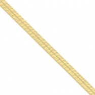 14k 6.5mm Silky Herringbone Chain