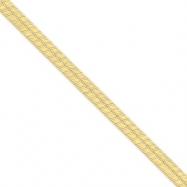 14k 6.5mm Silky Herringbone Chain