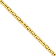 14k 6.50mm Byzantine Chain anklet