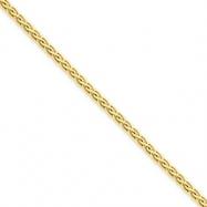 14k 3mm Flat Wheat Chain bracelet