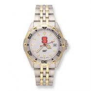 Mens NC State University All-Star Stainless Band Watch ring