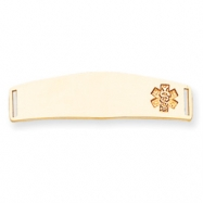 14k Non-enameled Medical Jewelry Plate