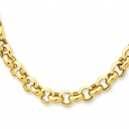 14k 18in 6.25mm Polished Fancy Rolo Link Necklace chain