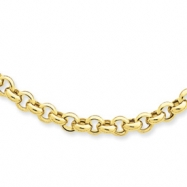 14k 18in 5mm Polished Fancy Rolo Link Necklace chain