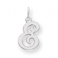 Sterling Silver Stamped Initial E