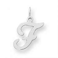 Sterling Silver Stamped Initial F
