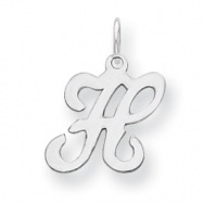 Sterling Silver Stamped Initial H