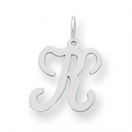 Sterling Silver Stamped Initial K
