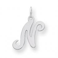 Sterling Silver Stamped Initial N