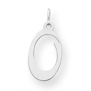 Sterling Silver Stamped Initial O