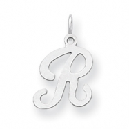 Sterling Silver Stamped Initial R