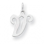Sterling Silver Stamped Initial V