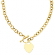 14k Heart Charm Necklace chain