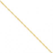 14k 1mm Singapore Chain