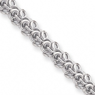 18in Rhodium-plated Arabesque Necklace chain