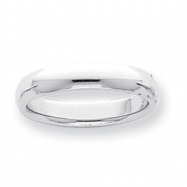 Platinum 4mm Half-Round Comfort Fit Lightweight Band ring