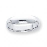 Platinum 5mm Half-Round Comfort Fit Lightweight Band ring