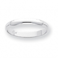 Platinum 3mm Half-Round Featherweight Band ring