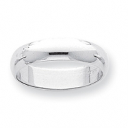 Platinum 5mm Half-Round Featherweight Band ring