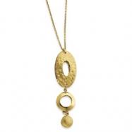 14k Fancy Pendant w/2in extension Necklace chain