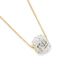 14k Crystal Slider Necklace chain