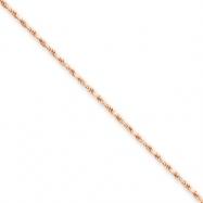 14k Rose Gold 1.8mm D/C Rope Chain bracelet