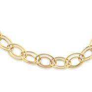 14K Adjustable Oval Link Necklace chain