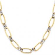 14K Two-Tone Fancy Necklace chain