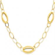 14K Fancy Link Oval Necklace