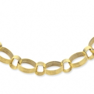 14K Scallop Link Necklace chain