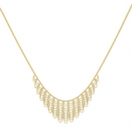 14K Adjustable Fancy Beaded Necklace chain