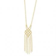 14K Fancy Beaded Necklace chain